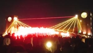 橋からも花火