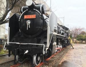 松任駅前にある蒸気機関車D51