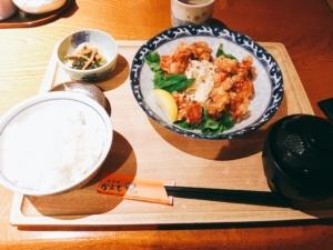 チキン唐揚げ定食
