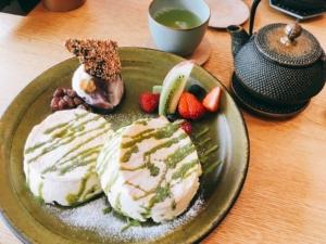 菓ふぇMURAKAMIの米粉パンケーキ
