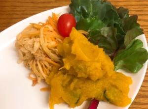 切り干し大根とツナのサラダとかぼちゃのシンプルサラダ