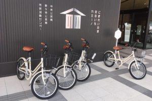 カミーノの入り口には自転車が並んでいます