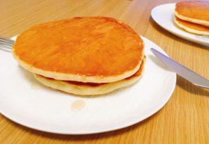 作ってみたココナッツオイルホットケーキです