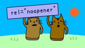 "rel=""noopener""をJavaScriptで追加します"