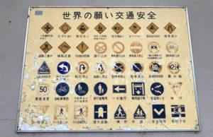 道路標識のパネル