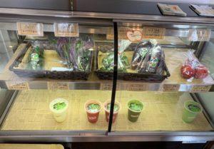野菜販売もされています
