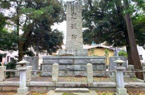 布市神社の忠魂碑
