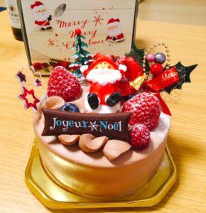シュシュの可愛いショコラクリスマスケーキ