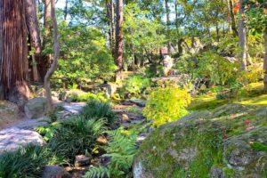 庭園の奥は自然がさらにたっぷり