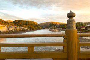 宇治橋から見た宇治川の景色
