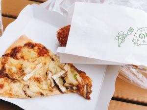 のとししカレーパンとのどぐろピザ