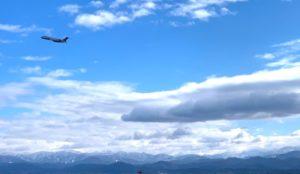白山と飛行機