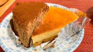 チーズケーキ二種類