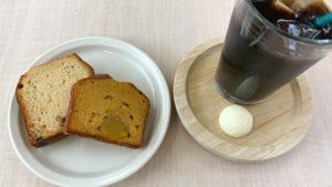 パウンドケーキとアイスコーヒー