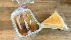 チーズケーキとタイのスイートポテト