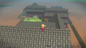屋根から見たハウスの奥