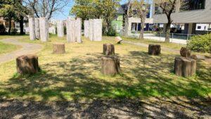 チカモリ遺跡公園の柱跡